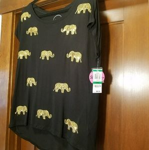 ELEPHANT SEQUINED TOP NWT LG